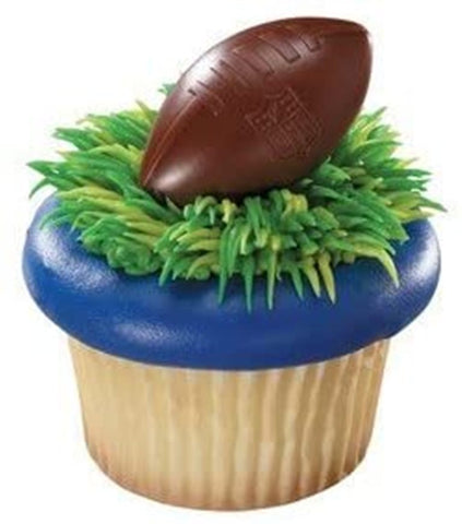 24 NFL Football Shield Cupcake Rings