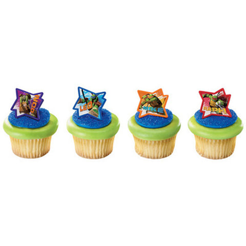 24 Teenage Mutant Ninja Turtles Cupcake Topper Rings
