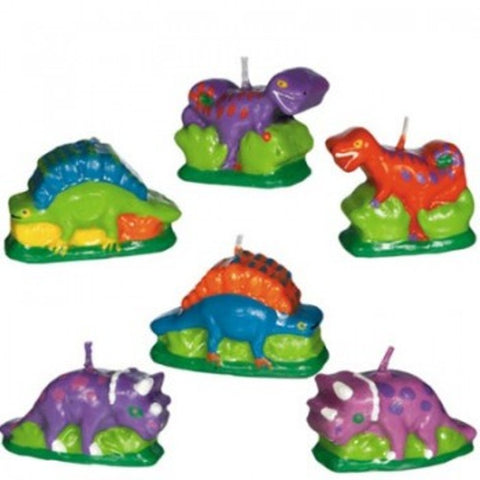 Prehistoric Party Dinosaurs Mini Candle Set