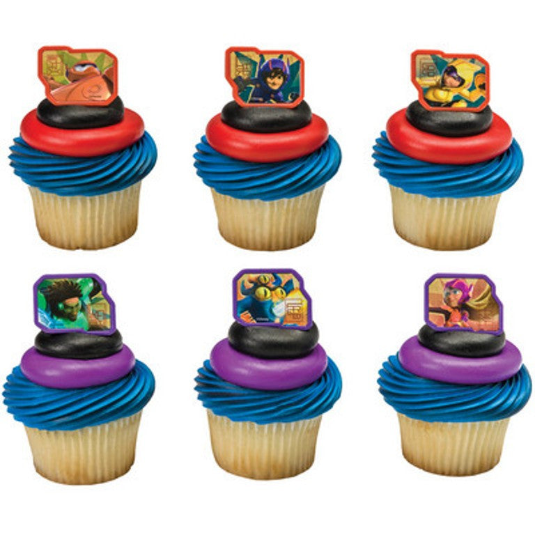 24 Big Hero 6 Cupcake Topper Rings
