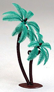 Twin Coconut Palm Tree Cake Toppers - Set of 2
