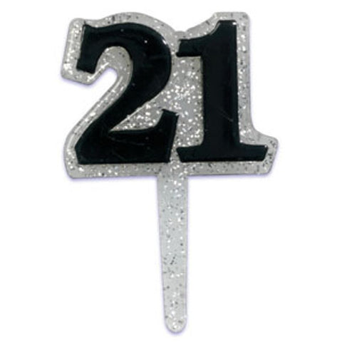 24 Twenty-first (21st) Birthday Cupcake Topper Picks