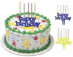 Happy Birthday Candle Holder Cake Toppers