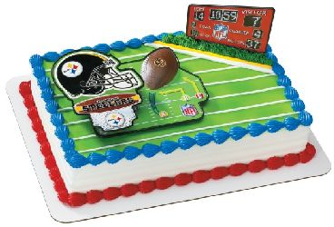Pittsburgh Steelers Cake Topper