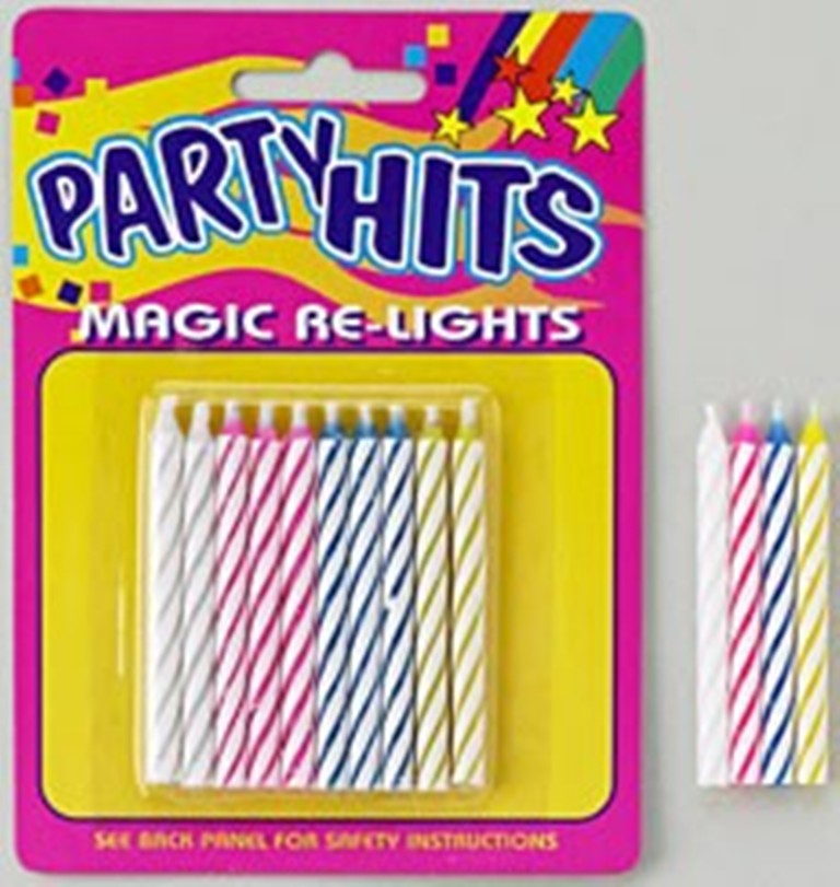 Magic Relight Multi-Colored Candles
