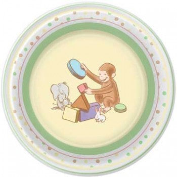 Curious George Cute and Curious Baby Dessert Plates