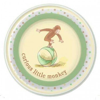 Curious George Cute and Curious Baby Dinner Plates