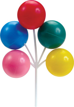 Balloon Cluster Cake & Cupcake Long Picks