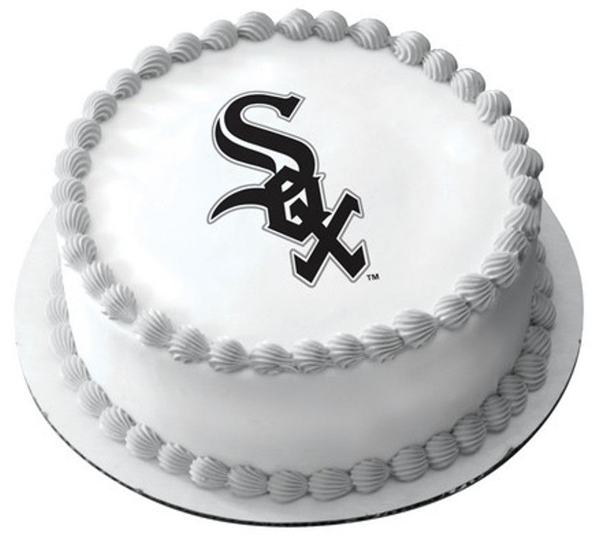 MLB Chicago White Sox Logo Edible Icing Sheet Cake Decor Topper