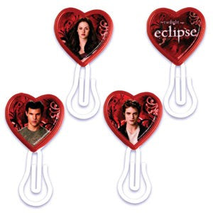 10 Twilight Heart Bookmark Cupcake Picks