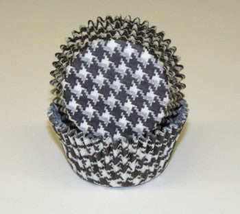 Black Houndstooth Cupcake Baking Cups