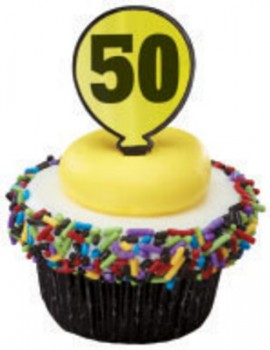 12 Fiftieth (50th) Milestone Balloon Cupcake Topper Picks