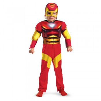 Iron Man Deluxe Muscle Child Costume SIZE: Small (4-6)