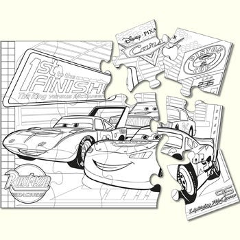 Disney Cars Party Puzzle Activity