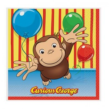 Curious George Beverage Napkins