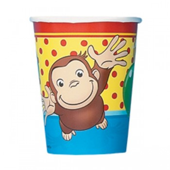 Curious George 9 ounce Hot/Cold Party Cups Party Supplies