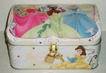 Disney Princess Enchanted Dreams Treasure Chest Tin with Lock