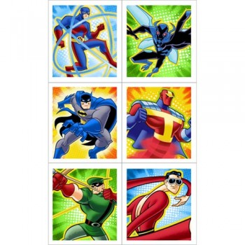 Batman The Brave And The Bold Birthday Party Stickers.