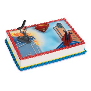 Superman Man of Steel Cake Decorating Kit Topper