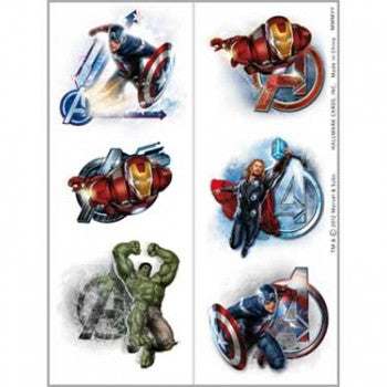 Marvel Avengers Temporary Tattoos
