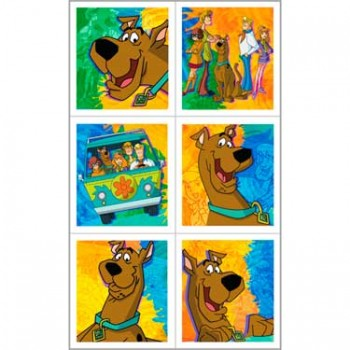 Scooby Doo Birthday Party Stickers