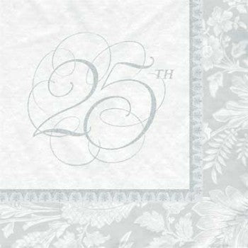 Wedding Elegance 25th Anniversary Luncheon Napkins