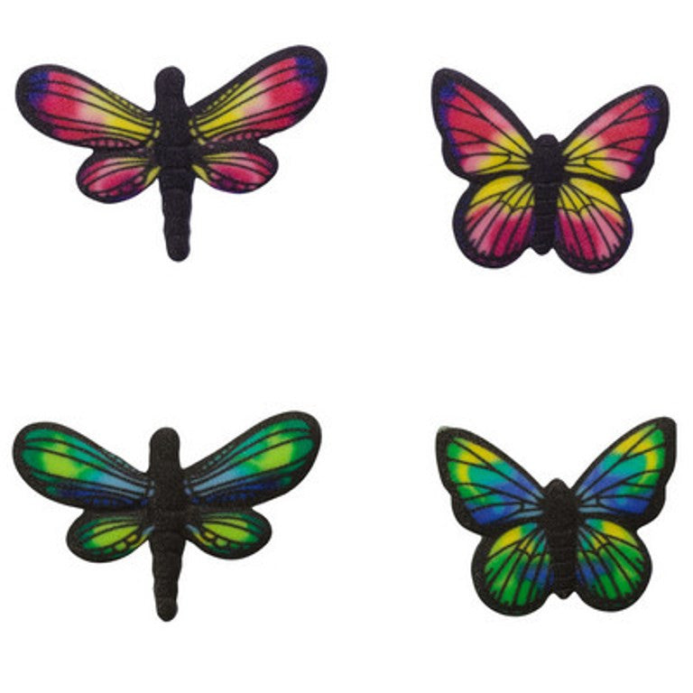 Printed Butterflies and Dragonflies Assortment SugarSoft Edible Sugar Cake Topper Decoration Set