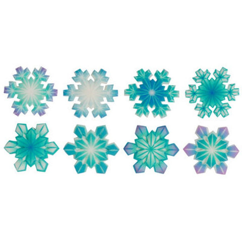Printed Snowflakes Assortment SugarSoft Edible Sugar Cake Topper Decoration Set - 6155/S2