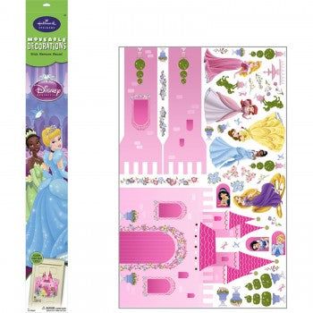 Jumbo Disney Princess Castle Cinderella, Aurora, Snow White, Rapunzel, and Ariel Moveable Decorations Stickers