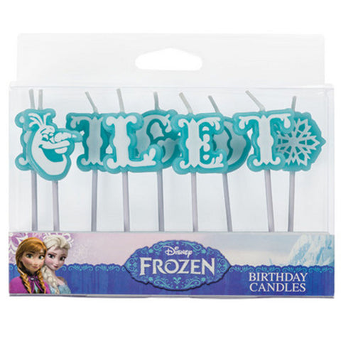 Frozen Olaf Let It Go Letter Candles