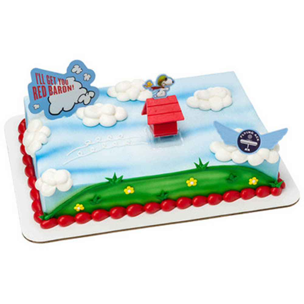 Peanuts Snoopy Flying Ace Cake Topper