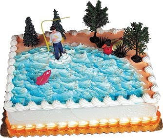 Gone Fishing Cake Decorating Kit Topper