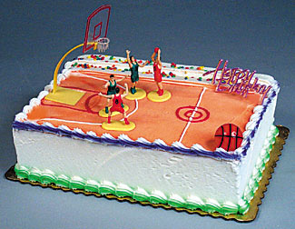 Swish! Basketball Cake Topper Kit
