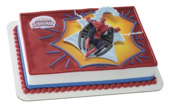 Spiderman Web Spinner Cake Topper