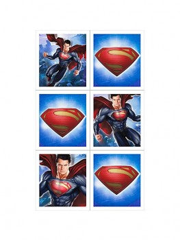 Man of Steel Superman Party Stickers