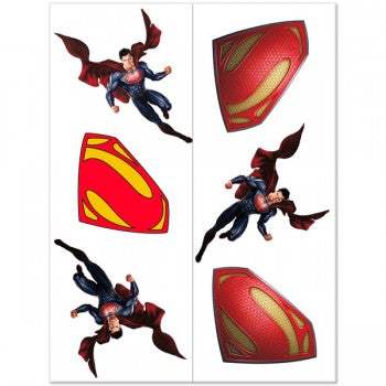 Man of Steel Superman Birthday Party Tattoos