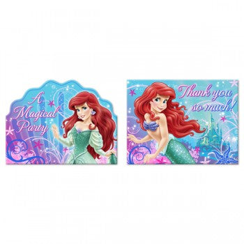 Little Mermaid Sparkle Invitations & Thank You Notes