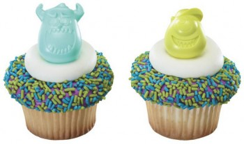 12 Monsters University Cupcake Rings
