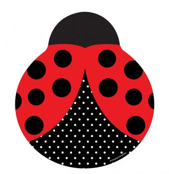 Ladybug Fancy Shaped Dinner Plates