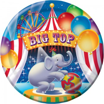 Big Top Birthday Circus Dinner Plates