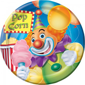 Big Top Birthday Circus Dessert Plates
