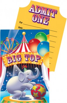 Big Top Birthday Circus Invitations