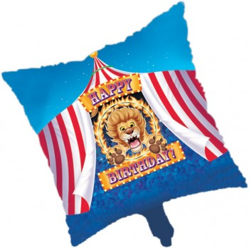 Big Top Birthday Circus Metallic Foil Balloon