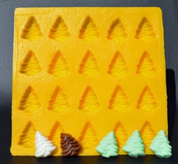 Tree Yellow Soft Candy Rubber Flexible Mold