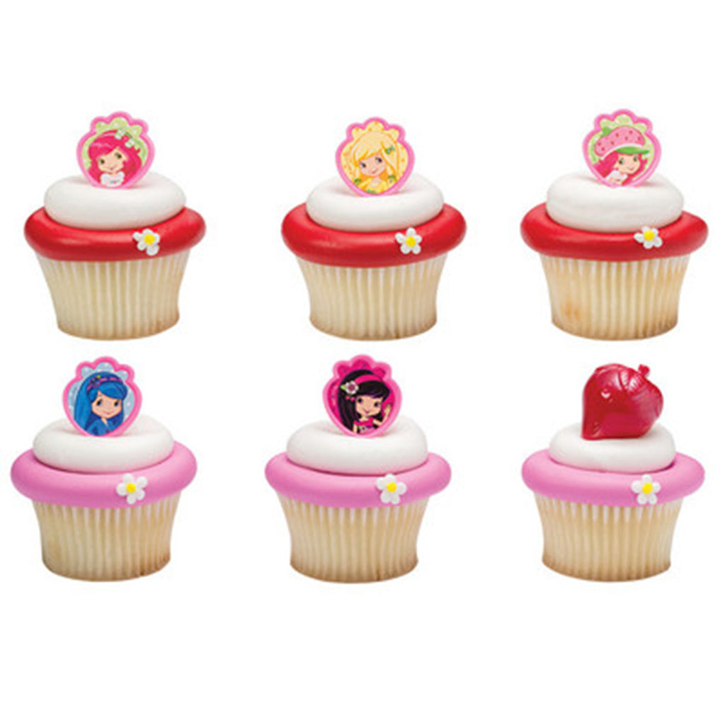 24 Strawberry Shortcake Friends Forever Cupcake Topper Rings