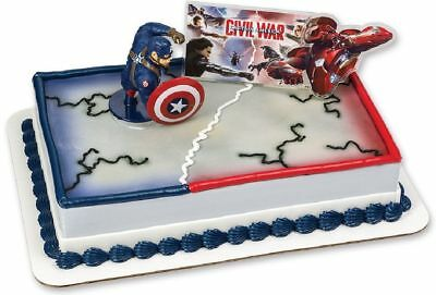 Captain America Civil War Cake Decoration Topper