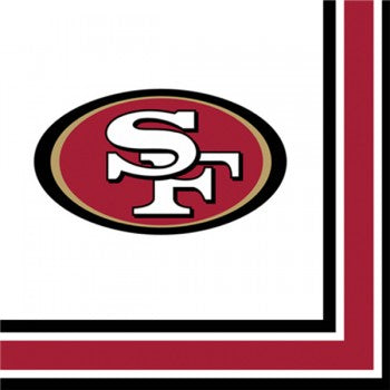 NFL San Francisco 49ers Lunch Napkins Party Supplies