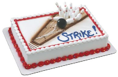 Bowling Cake Decorating Kit Topper