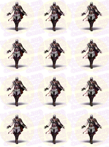 Assassin's Creed Edible Icing Cupcake or Cookie Decor Toppers - AC1
