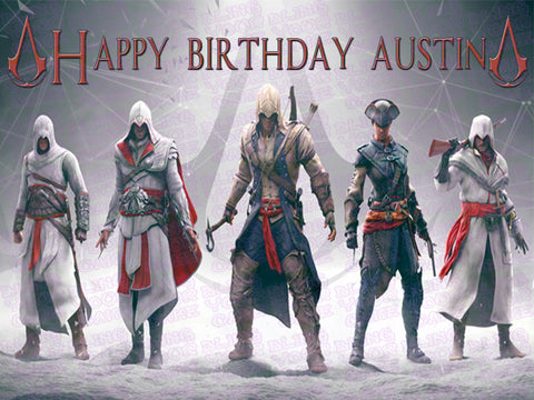 Assassin's Creed Edible Icing Sheet Cake Decor Topper - AC2